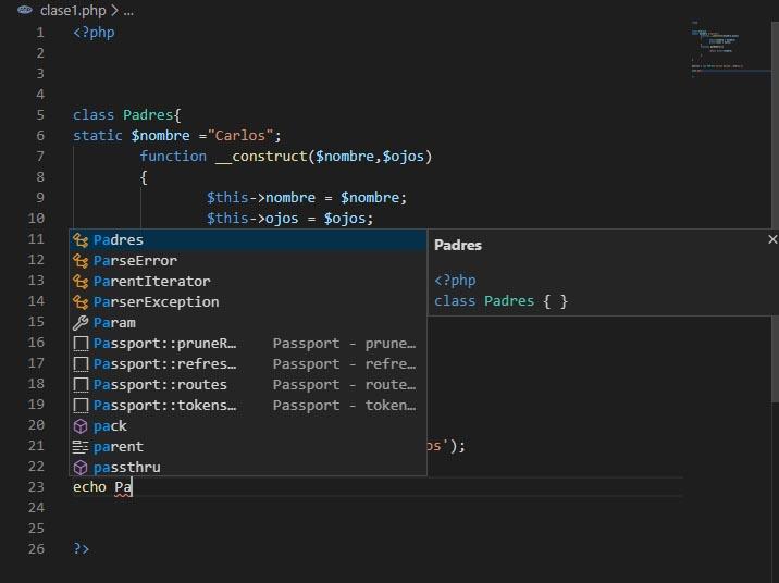 extensiones para php con visual studio code